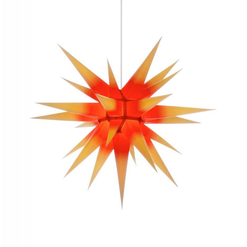 herrnhuter weihnachtsstern i7 gelb roter kern holzkunst. Black Bedroom Furniture Sets. Home Design Ideas