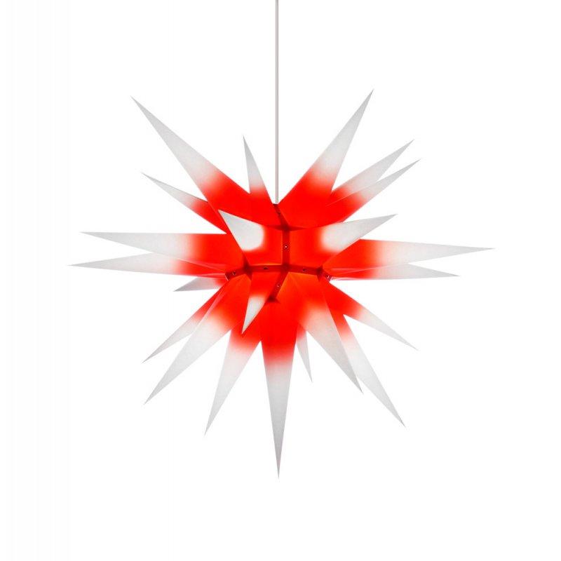 herrnhuter weihnachtsstern i7 wei roter kern mit beleuchtung holzkunst aus dem erzgebirge. Black Bedroom Furniture Sets. Home Design Ideas