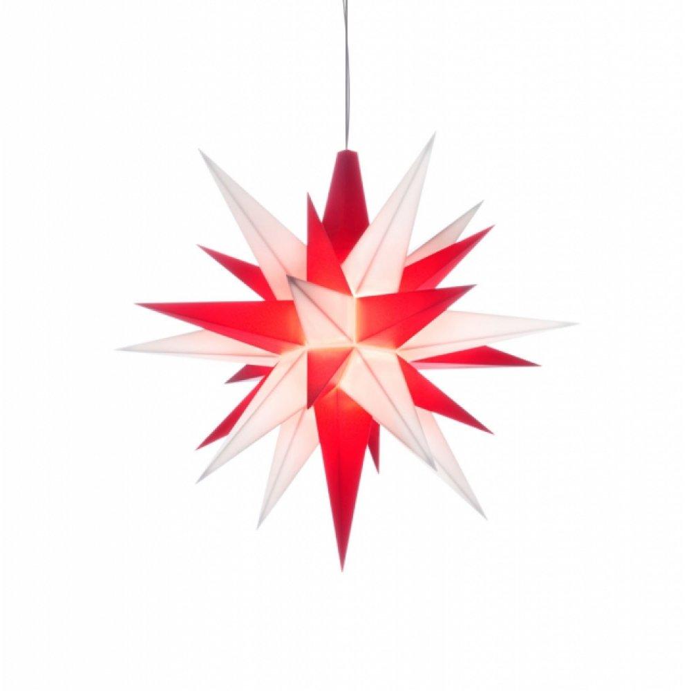 herrnhuter weihnachtsstern wei rot aus kunststoff 13cm. Black Bedroom Furniture Sets. Home Design Ideas
