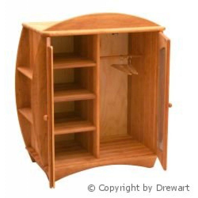 puppenm bel holzschrank mit spiegel aus holz von drewart holzkunst aus dem erzgebirge. Black Bedroom Furniture Sets. Home Design Ideas