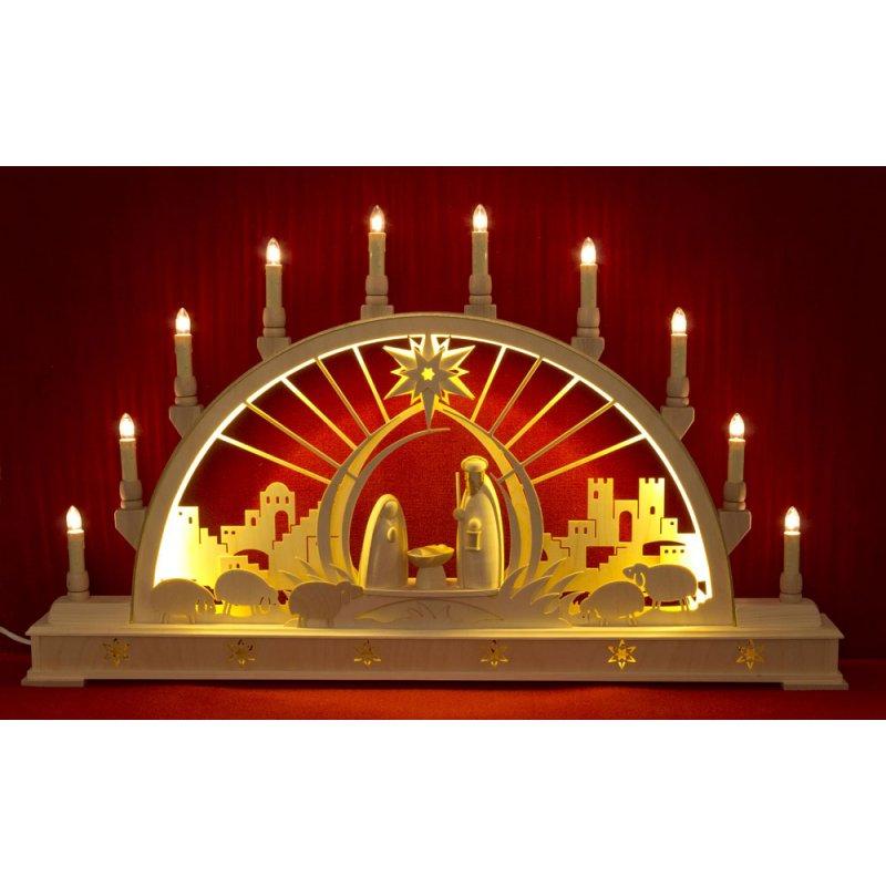 Led Beleuchtung Hersteller :  Lichterbogen ? Seidel Schwibbogen Christi Geburt mit LED Beleuchtung