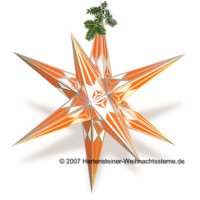 Adventsstern silber/orange