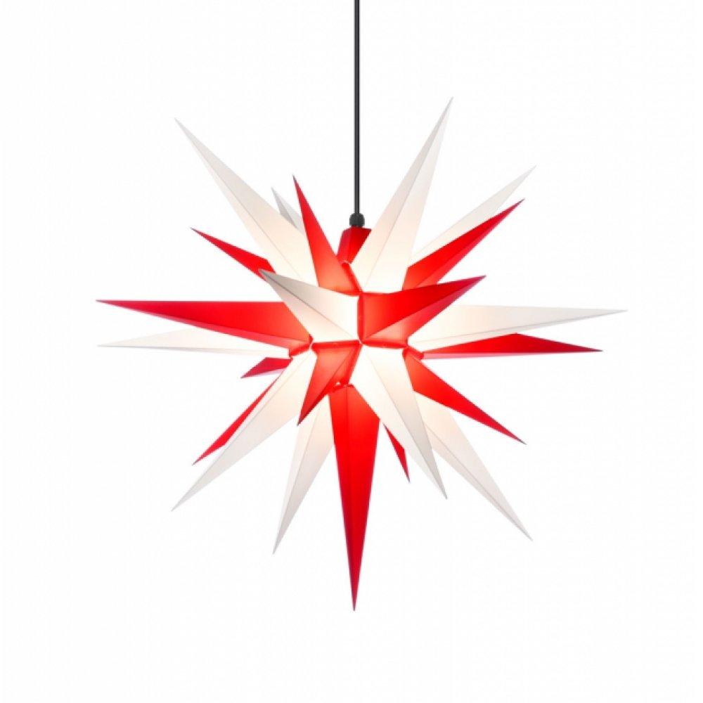 herrnhuter weihnachtsstern a7 rot wei aus kunststoff. Black Bedroom Furniture Sets. Home Design Ideas