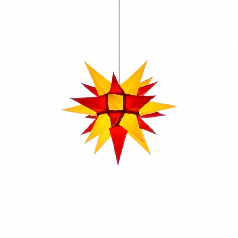 herrnhuter weihnachtsstern i4 gelb rot mit beleuchtung. Black Bedroom Furniture Sets. Home Design Ideas