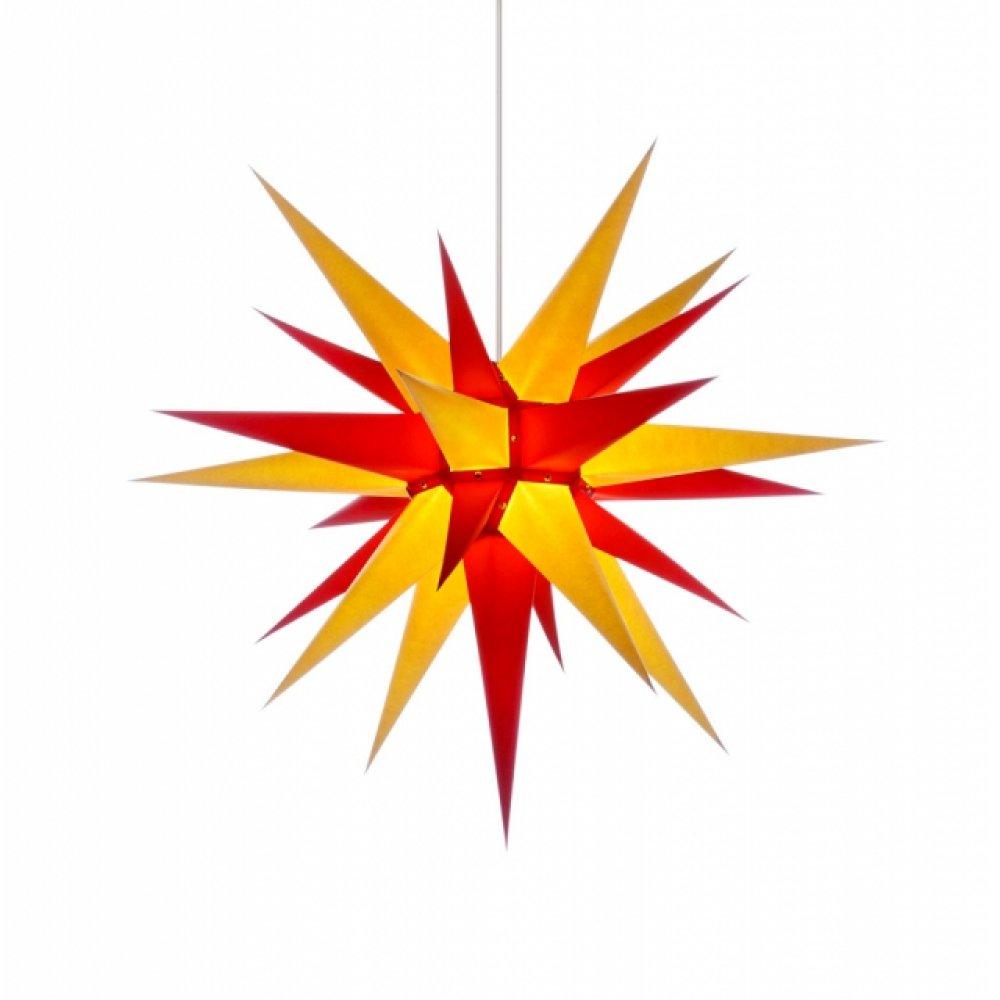 herrnhuter weihnachtsstern i7 gelb rot mit beleuchtung holzkunst aus dem erzgebirge 100. Black Bedroom Furniture Sets. Home Design Ideas