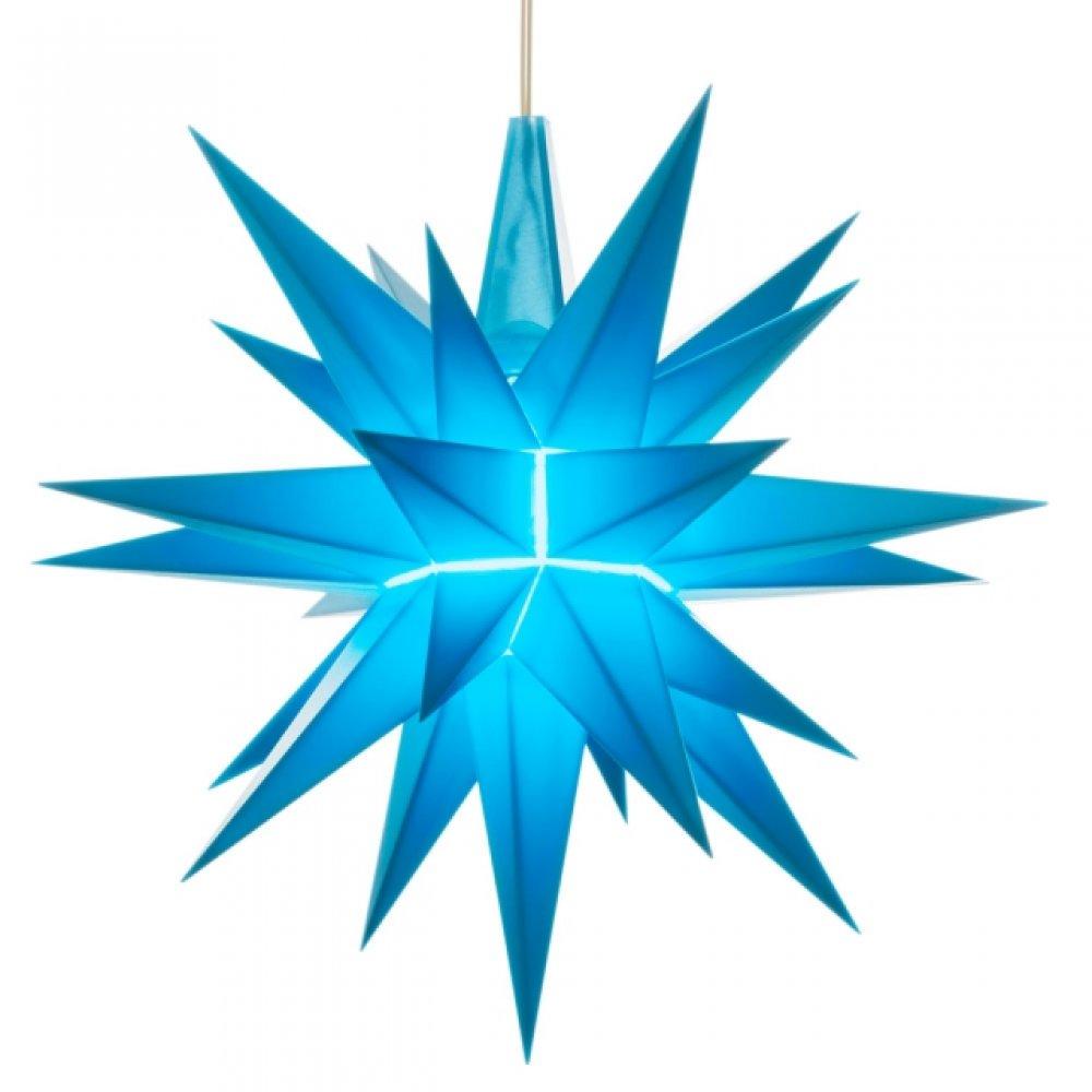 herrnhuter weihnachtsstern blau aus kunststoff 13cm. Black Bedroom Furniture Sets. Home Design Ideas