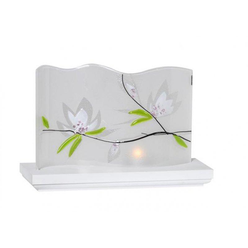 kwo glas paravent magnolie holzkunst aus dem. Black Bedroom Furniture Sets. Home Design Ideas