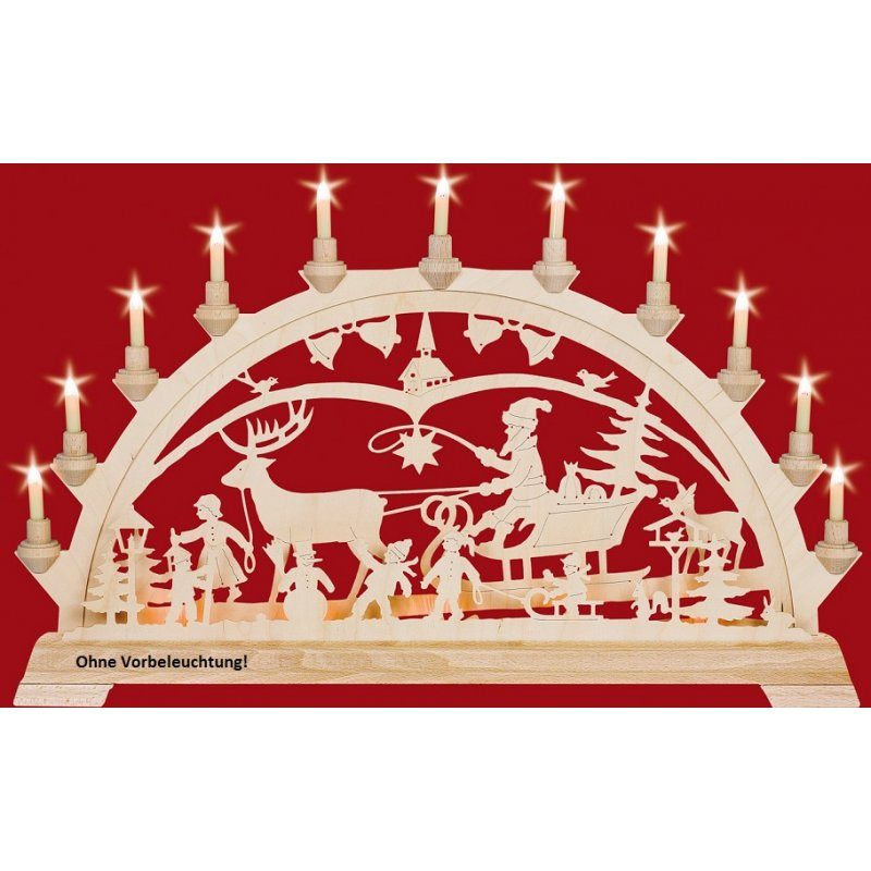 Taulin candle arch christmas country with children for Arch candle christmas decoration