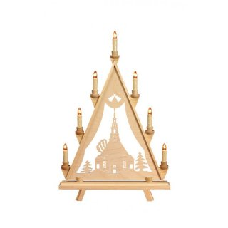 Baumann candle arch triangle motif church