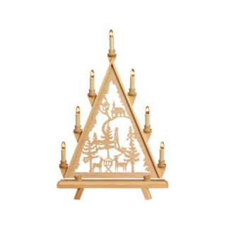 Baumann candle arch triangle motif forest