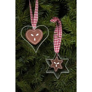 Christian Ulbricht tree decoration heart and star set