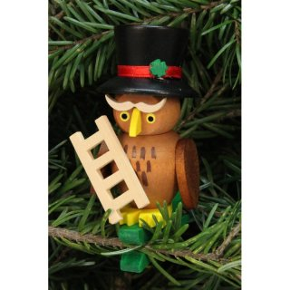Christian Ulbricht tree decoration owl chimney sweeper on...