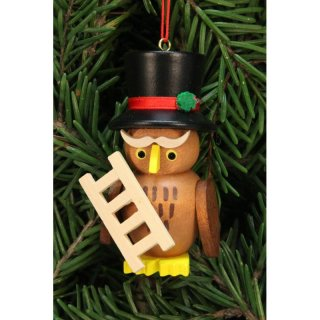 Christian Ulbricht tree decoration owl chimney sweeper