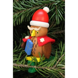 Christian Ulbricht tree decoration owl Santa Claus on a clip