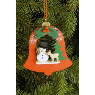 Christian Ulbricht tree decoration bell with snowman