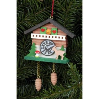 Christian Ulbricht tree decoration cuckoo clock with Bambi