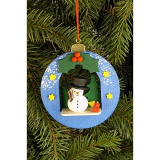 Christian Ulbricht tree decoration ball with snowman