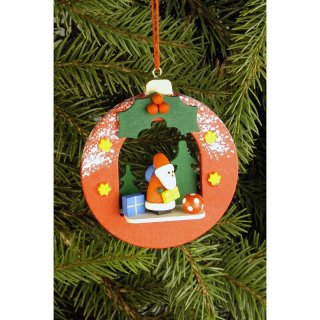 Christian Ulbricht tree decoration ball with Santa Claus