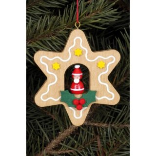 Christian Ulbricht tree decoration gingerbread small with Santa Claus