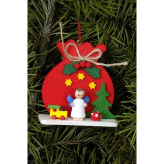 Christian Ulbricht tree decoration sack red with angel