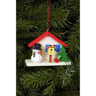 Christian Ulbricht tree decoration snowman at the house