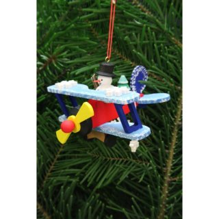 Christian Ulbricht tree decoration snowman in the plane