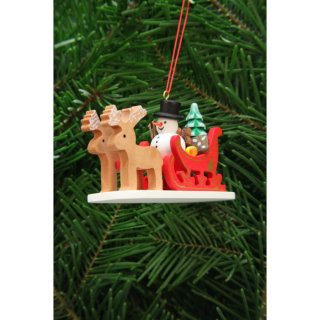 Christian Ulbricht tree decoration snowman with reindeer...