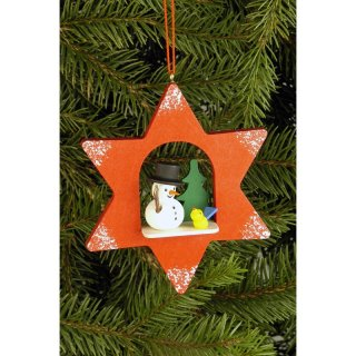 Christian Ulbricht tree decoration star with snowman