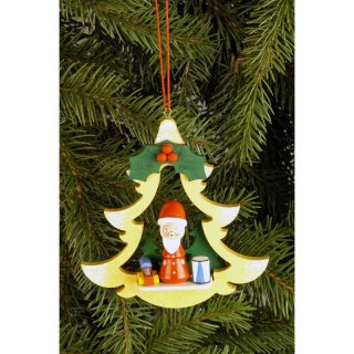 Christian Ulbricht tree decoration fir with Santa Claus