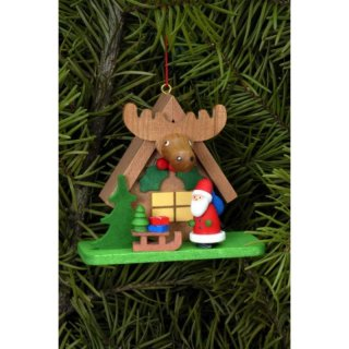 Christian Ulbricht tree decoration forest house with Santa Claus