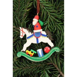 Christian Ulbricht tree decoration Santa Claus on rocking...