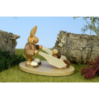 Christian Ulbricht rabbit with wheelbarrow nature