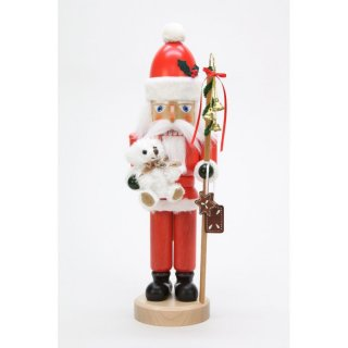 Christian Ulbricht nutcracker Santa Claus with Teddy glazed