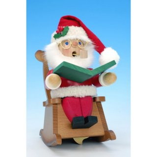 Christian Ulbricht Smoker Santa in rocking chair with play plant