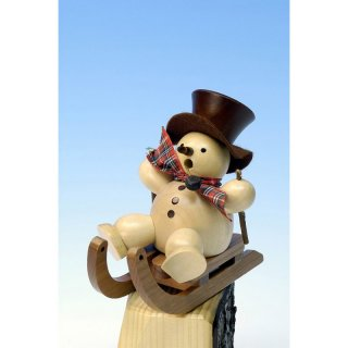 Christian Ulbricht smoker snowman on sled  nature