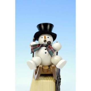 Christian Ulbricht smoker snowman on sled