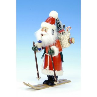 Christian Ulbricht Smoker Santa Claus on skis