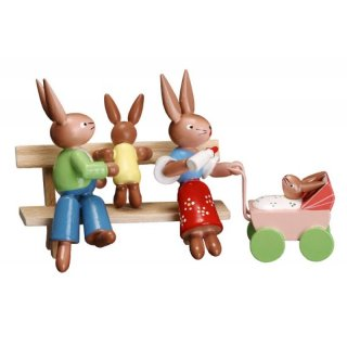 ESCO rabbit bench with baby stroller