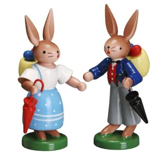ESCO rabbit couple with umbrella