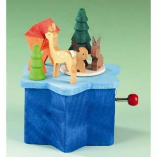 Graupner music box animals in the forest with winder