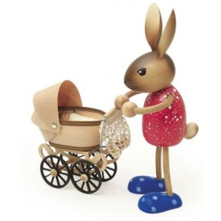 Kuhnert rabbit mother with baby stroller