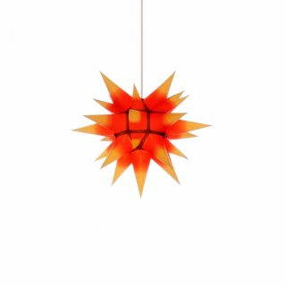 Herrnhut christmas star I4 yellow with red core