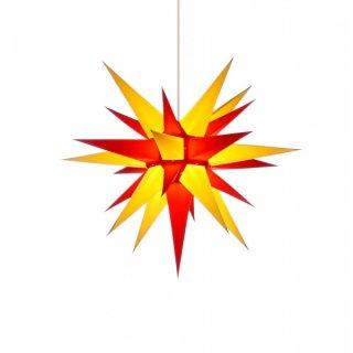 Beleuchtung Weihnachtsstern   Herrnhuter Weihnachtsstern I6 Gelb Rot Mit Beleuchtung Holzkunst