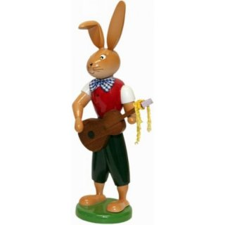 Holzkunst Gahlenz rabbit with guitar