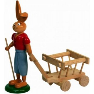 Holzkunst Gahlenz rabbit with cart