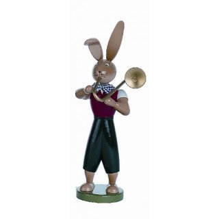 Holzkunst Gahlenz rabbit with trombone