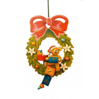 Hubrig tree decoration Teddy christmas wreath