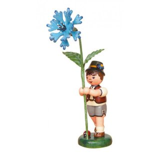 Hubrig flower kid / flower boy with cornflower