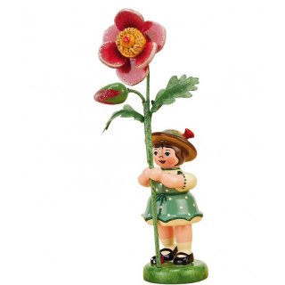 Hubrig flower kid - flower girl with wild rose