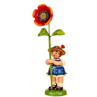 Hubrig flower kid - flower girl with poppy
